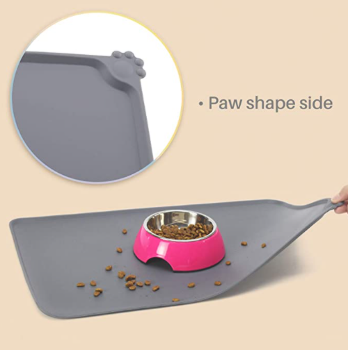 Water Proof Pet Mat For Dog Cat Solid Color Silicone Mat