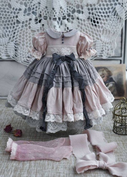 👧👧Little Darling Dianna Effner Doll with dress💝Lolita Style#5