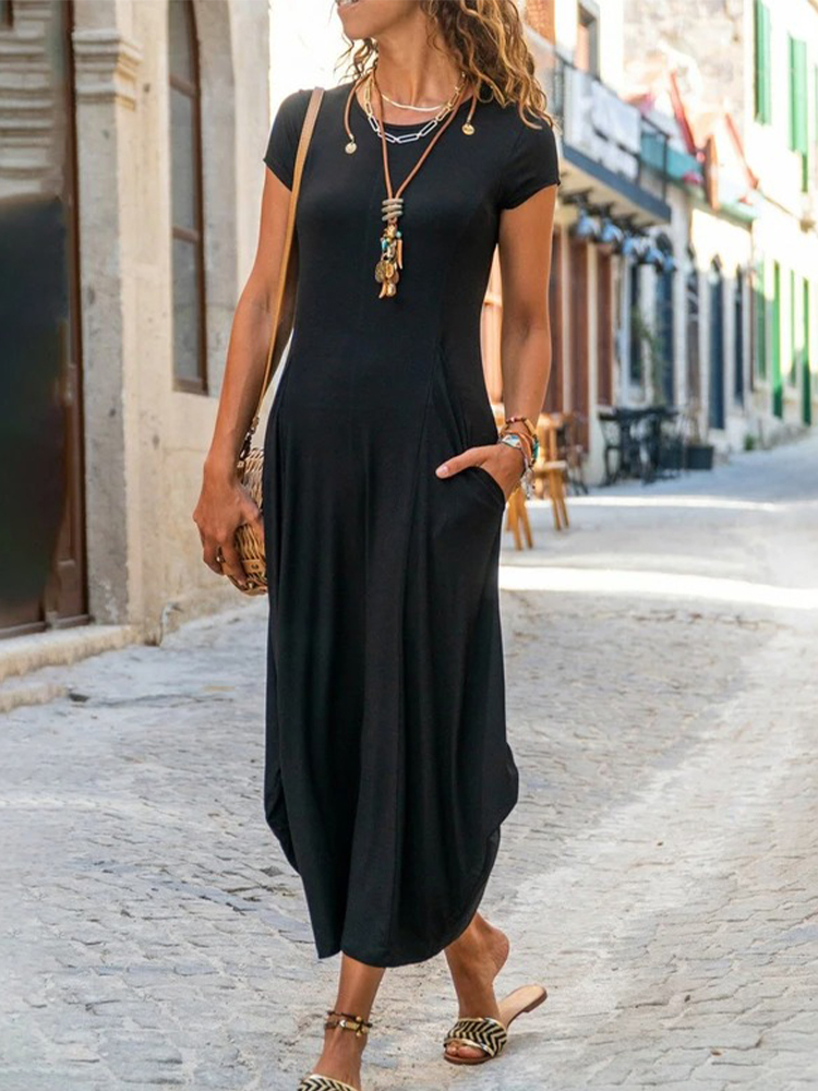 Casual Solid Color Dress
