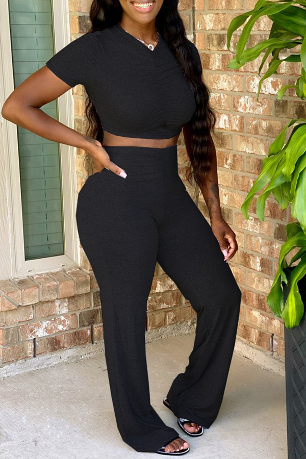 Ruched Tight Two-piece Set