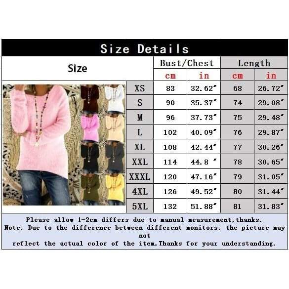 Women Fashion Casual Tops Mohair Blend Fuzzy Blouse Pullover Jumper Loose Sweater Knitwear
