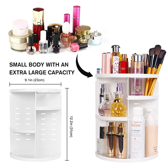 360 Degree Rotating Detachable Cosmetic Storage Rack