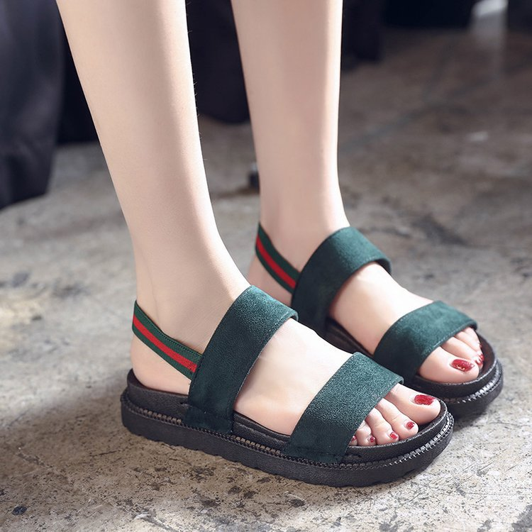 New Korean style all-match flat-soled student Roman sandals