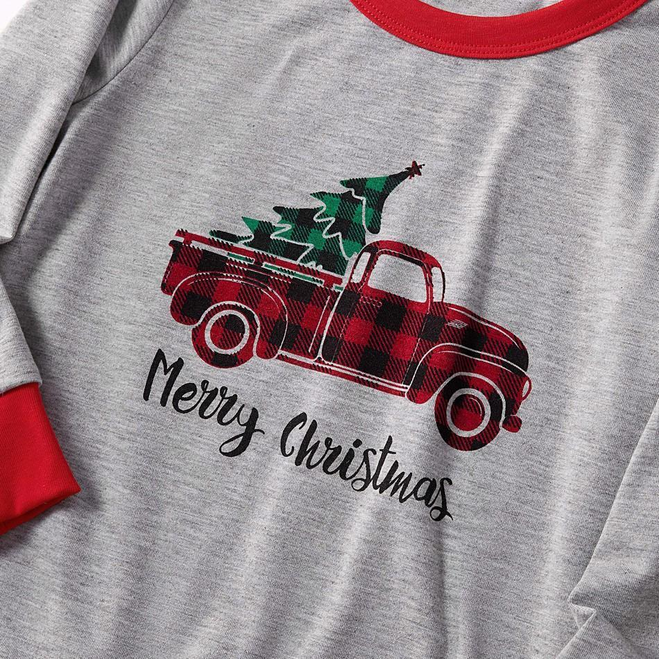 HERIN Red Truck Printed Family Matching Pajamas Sets