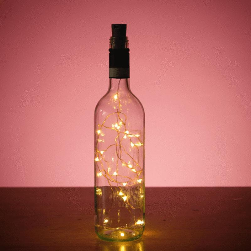 100cm 20 LED Battery Operated Cork Shape Wine Bottle String Light for Decor