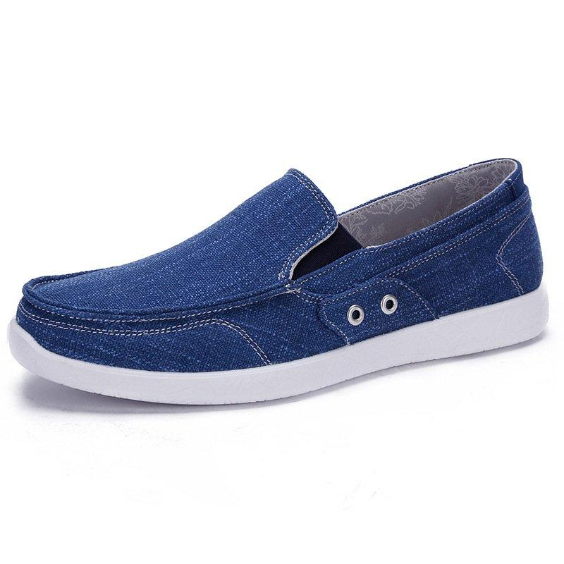 Men Casual Comfy Canvas Slip On Sneakers