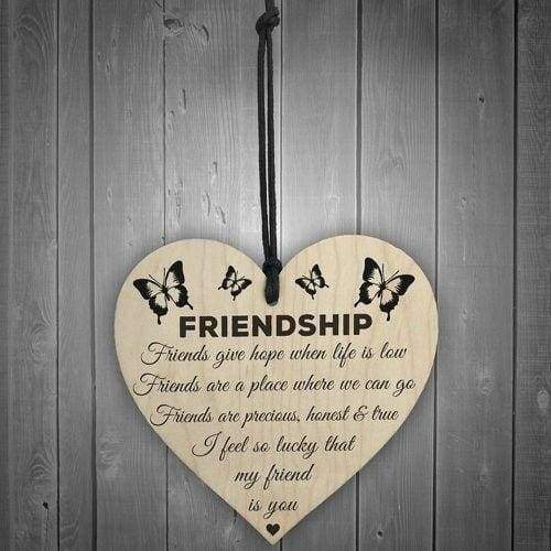 New Style Fashion Best Friend Gift Sign Friendship Plaque Heart