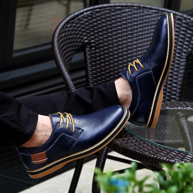 【Free shipping】Comfort Genuine Leather Oxford Shoe