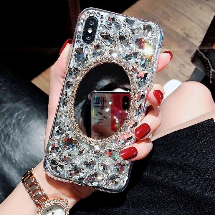 Crystal mirror luxury exquisite case for IPhone