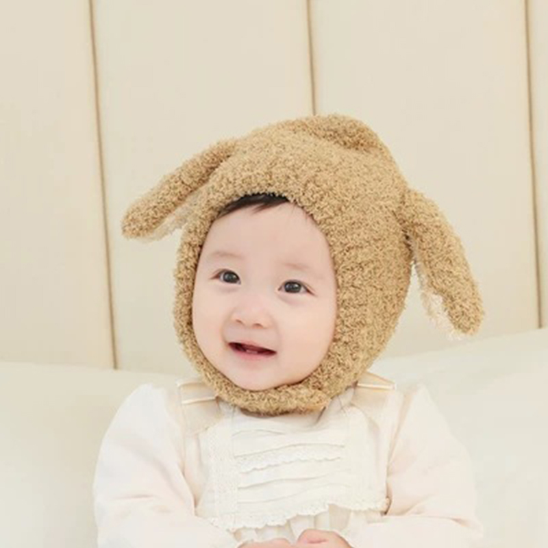 (Buy 1 get 1 free) winter plush rabbit ear baby hat Cute hat with warm ear protection