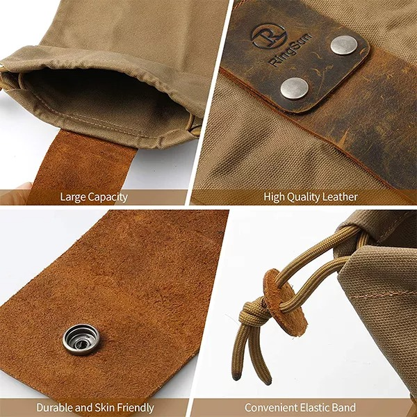 Waxed Canvas Foraging Pouch-Buy 2 Free Shipping