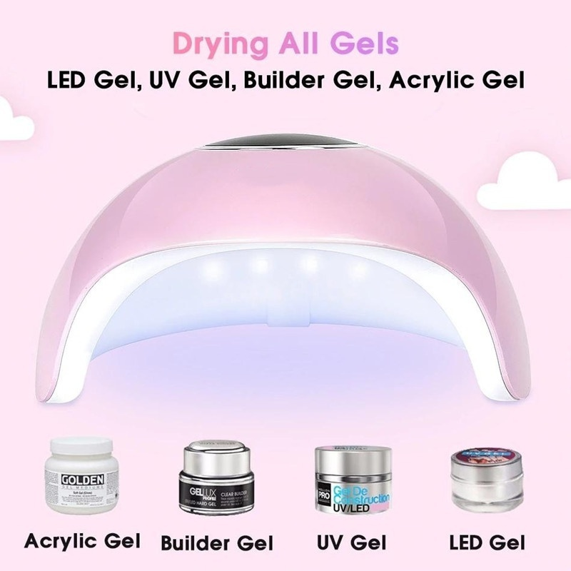 120W 12 LED UV LED Nail Dryer Lamp USB LCD Display 10/30/60/99s Timer Nail Gel Curing Light
