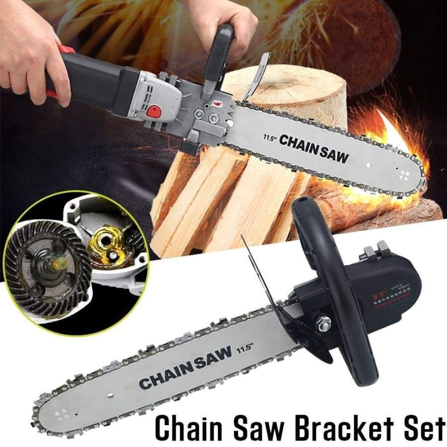 1 Set of Universal Converter Woodworking ChainSaw for Changing Angle Grinder Change Into Electric Chain Saw(Not Include The Grinder )
