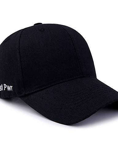 Men's Women's Active Basic Cute Cotton Baseball Cap-Solid Colored Spring All Seasons Black