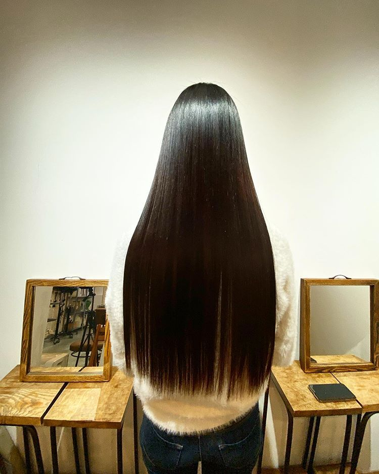 2020 New Straight Wigs Black Long Hair Straight To Curly Perm Straight Up Brush