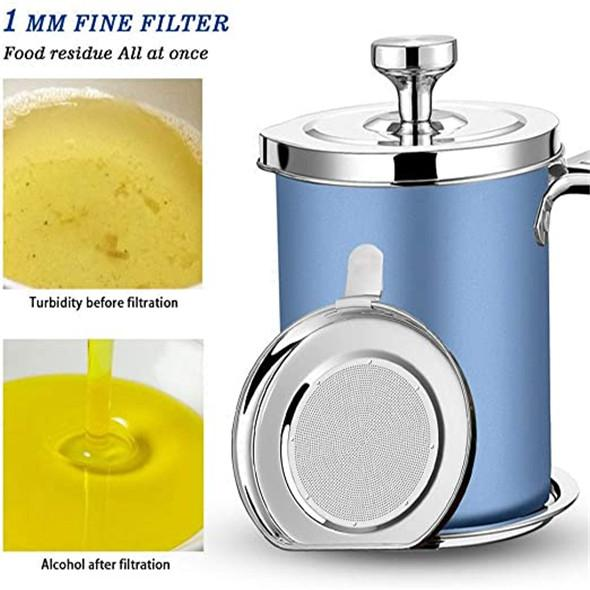 Stainless Steel Oil Strainer Storage Can