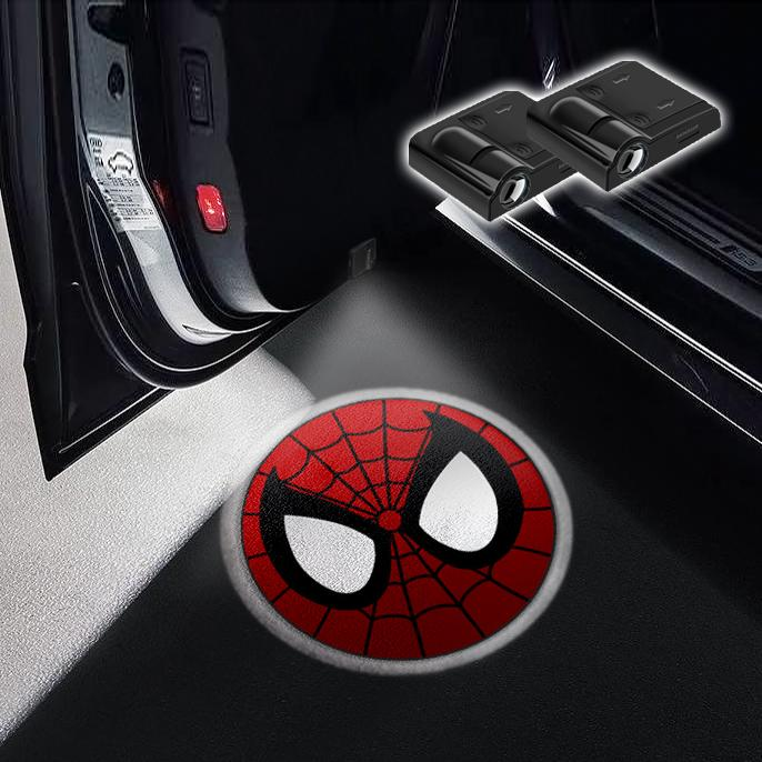 CarFitg Wireless Led Car Door Projector Puddle Logo Light - Spider Man