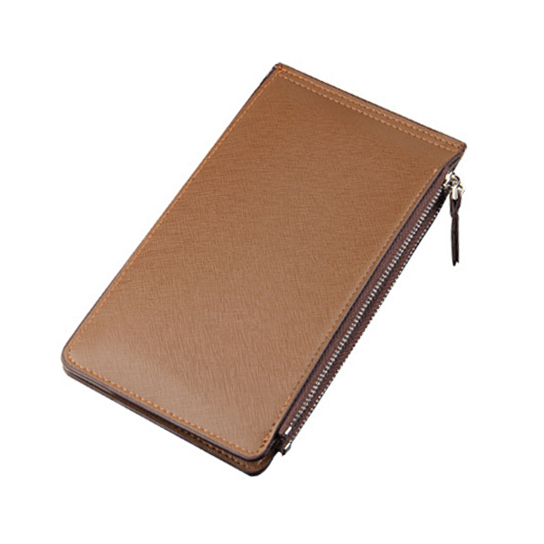 Classic Men's Multi-card Position Long Wallet Mens Credential Holder Fold Thin Magic Wallet Cash And Card Casual