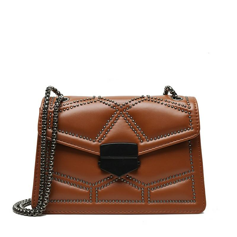 Korean diagonal chain bag