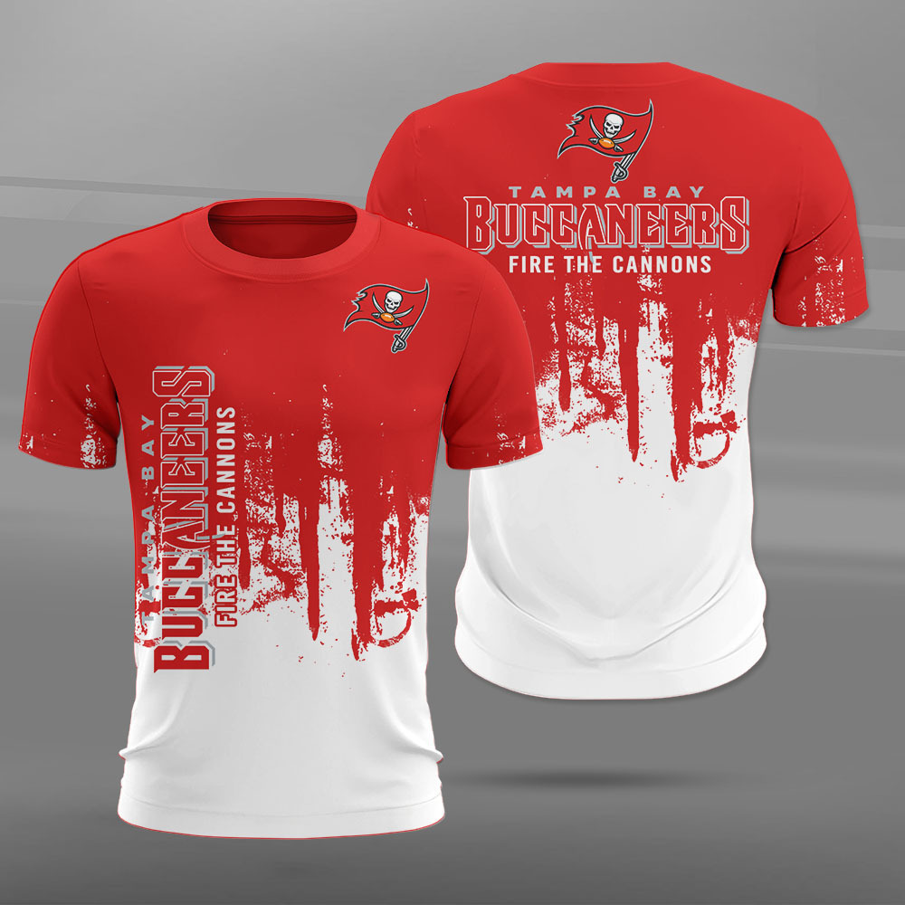 Tampa Bay Buccaneers T-shirt 3D new style Short Sleeve