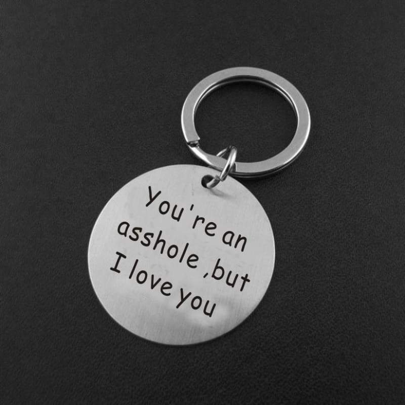 Funny Boyfriend Gift, You're My Favorite Asshole, Asshole Keychain, Funny Keychain, Funny Man Gift, Valentines Day, Funny Gift for Husband
