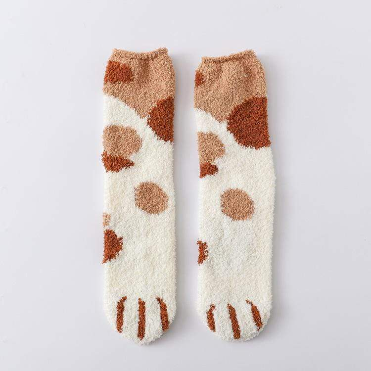 (Black Friday Hot Sale)Winter Cat Claws Cute Thick Warm Sleep Floor Socks