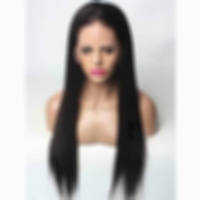 KAMI 089 Straight Black Quality Wigs Gorgeous Extra Long Sleek Synthetic Wig