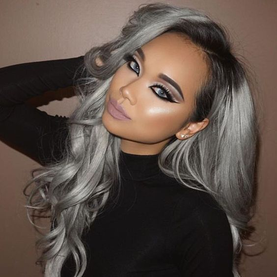 2021 New Lace Front Wigs Short White Blonde Hair Gray Highlights Men Red Wavy Wig