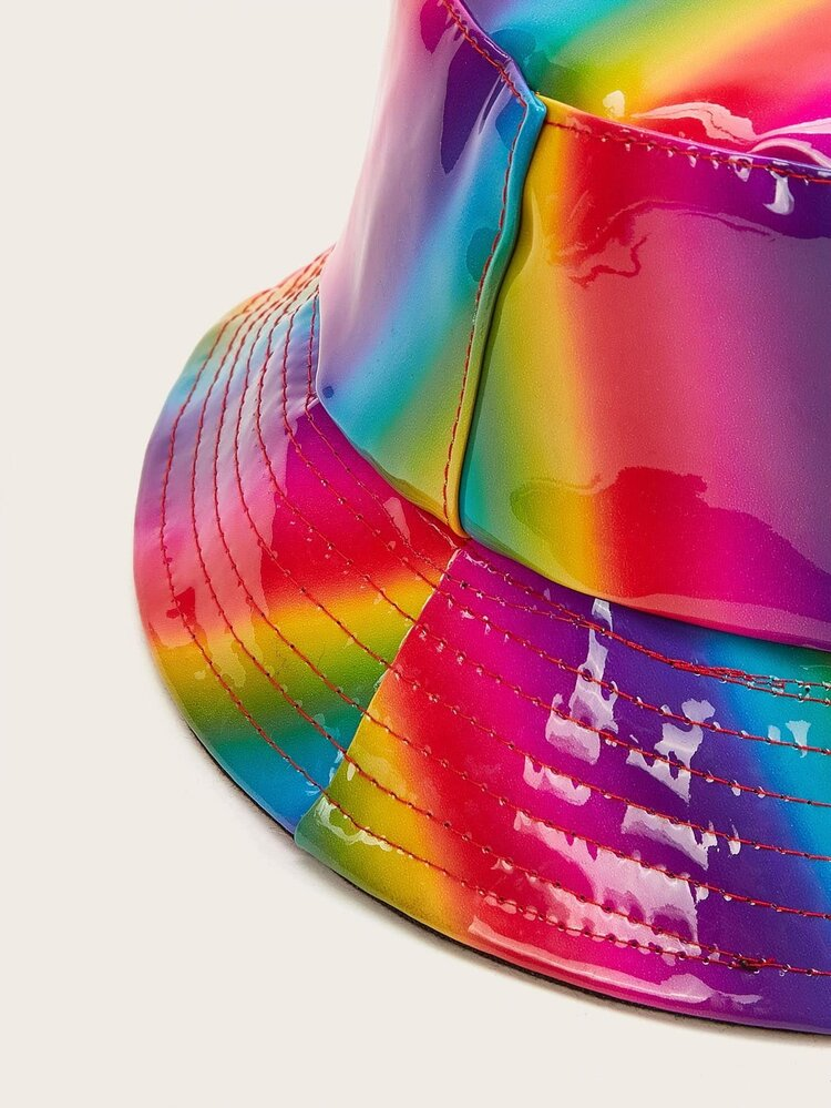 Rainbow Striped Pattern Bucket Hat