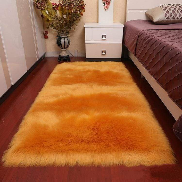 Artificial Wool Doormats Area Rugs for Bedroom Living Room Soft and Comfortable Fluffy Carpet Faux Sheepskin Wool Mats 16Color 4Size