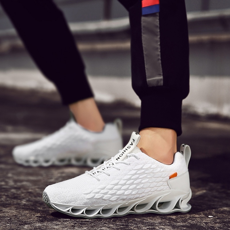 Trend Fashion Men's Blade Sneakers Mesh Breathable Fashion Sports Casual Walking Slip on Running Shoes 4 Colors