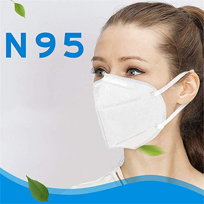 Kisslay KN95 Face Masks Anti-Dust Protective 3-Ply Cotton Filter Mask