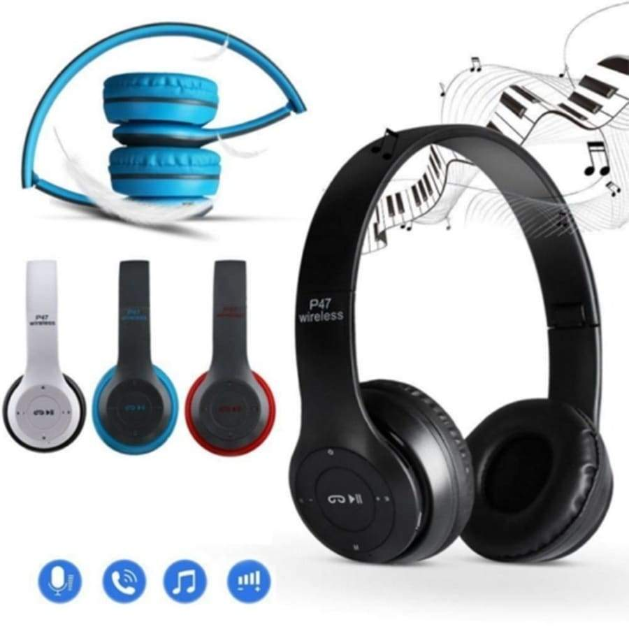 Multifunctional P47 Stereo TF Radio Reception Bluetooth Headphones Music Accessories Innovative Head Mounted HeadsetWireless Pho