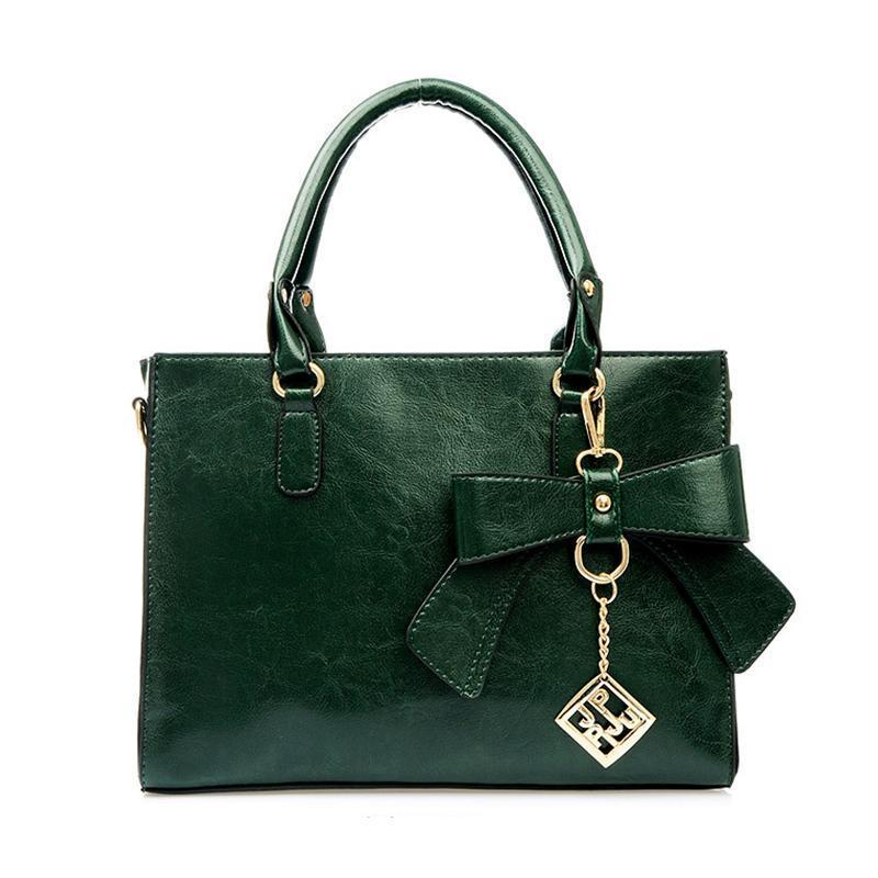 French Bowknot leather lady bag