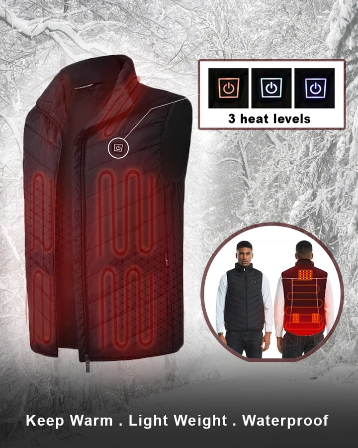 ( Anniversary Promotion)Unisex Warming Heated Vest(Buy 2 free shipping)