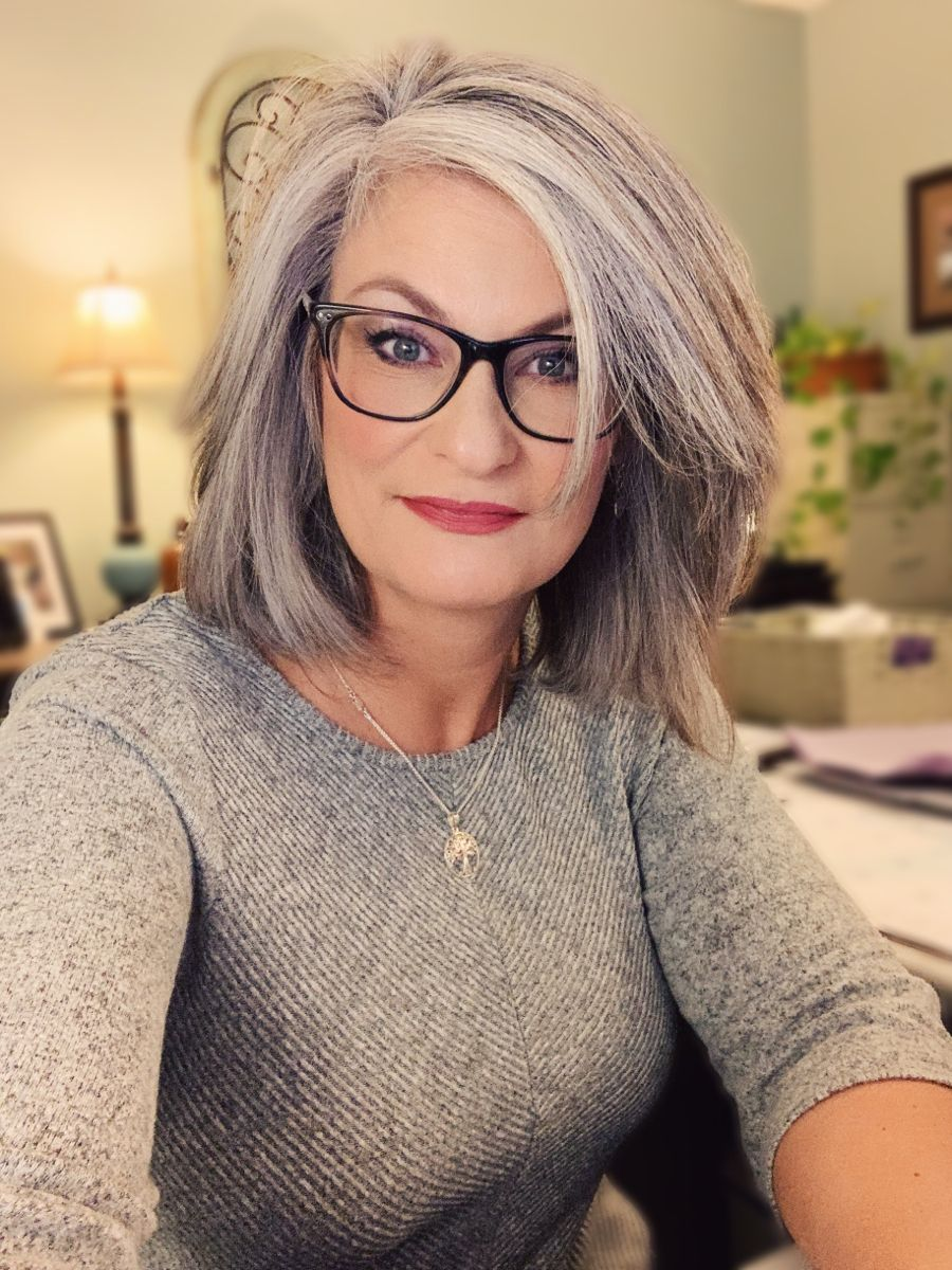2020 New Gray Hair Wigs For African American Women Undetectable Lace Wigs Purple And Grey Wig Cheap Frontals Grey Hair At Front Of Head Human Hair Blend Wigs