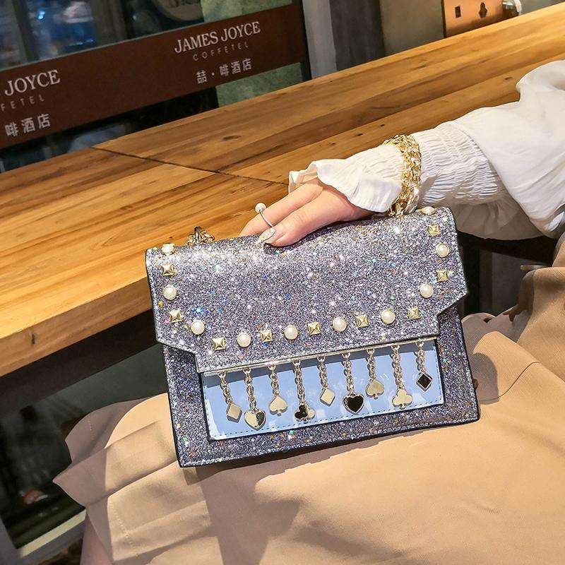 2020 New Sparkling Luxury Diamond Tote