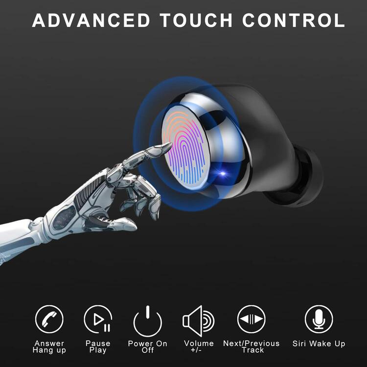 🔥Limited Time Deal🔥The Strongest Touch Control Wireless Bluetooth Earbuds