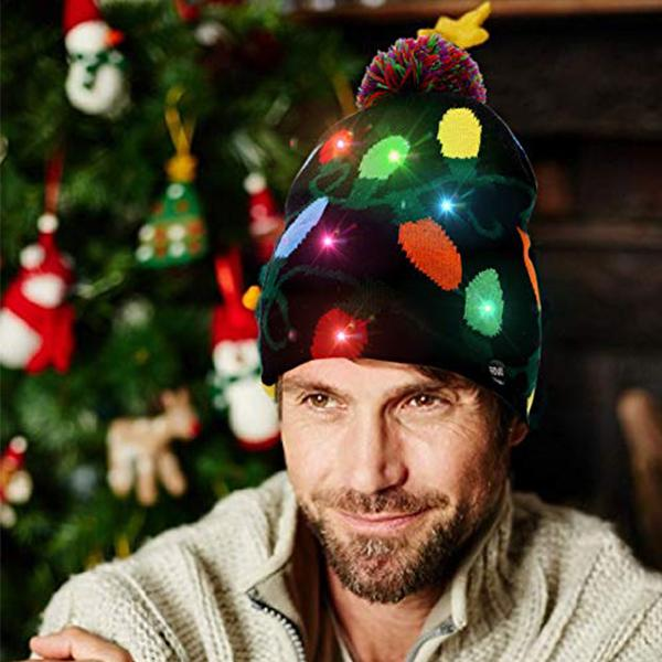 (Christmas Promotion)(60% off top 50)Christmas LED Beanies