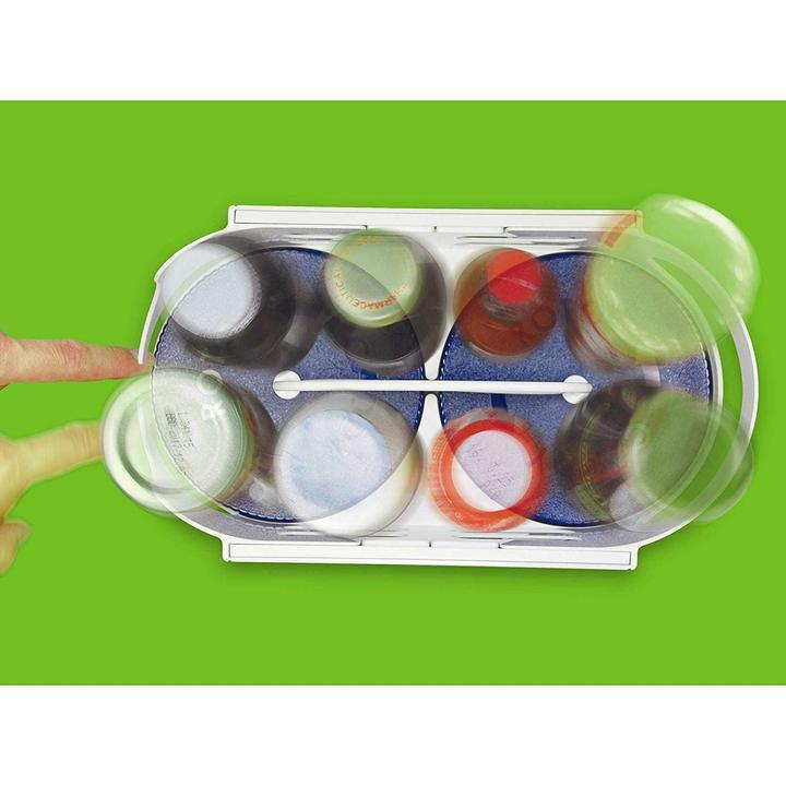 Twin-Roller Rotating Storage Basket for Kitchen/Cupboard/Cabinet
