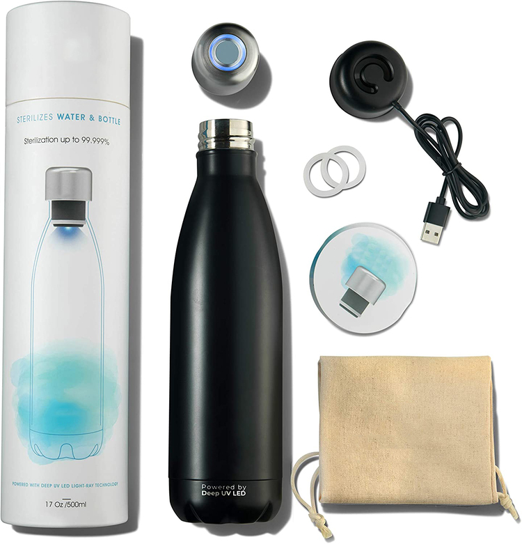 UV-C Self Cleaning Water Purifier Bottle-Turns Any Water Source Into Clean Drinkable Water