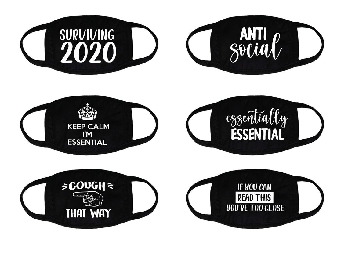 New Arrival Quarantine Keep Distancing Printed Face Mask for Unisex Men Women