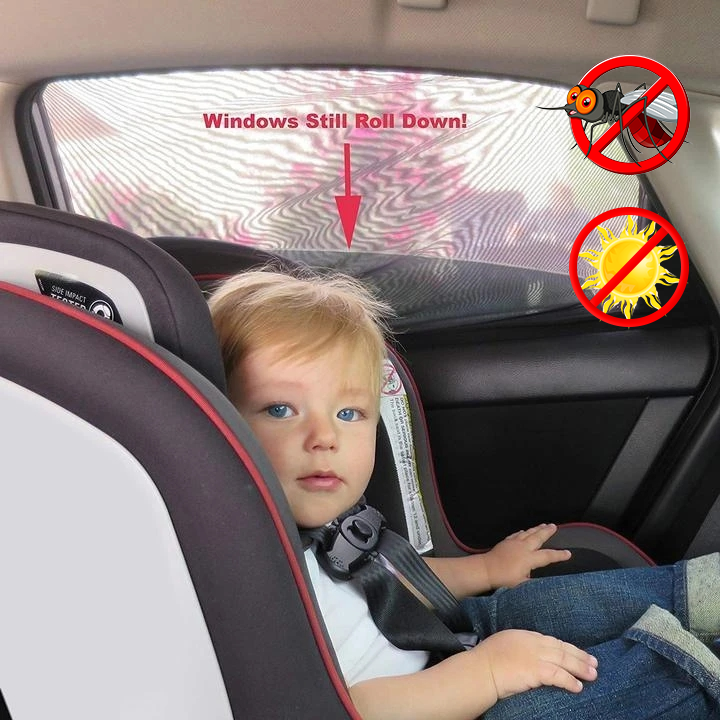 🔥Hot Selling -- Best Universal Car Window Sun Shade Curtain (Fits all Cars)