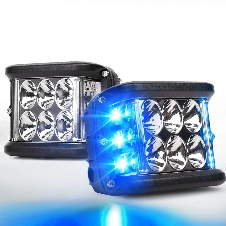 3.75'' Dual Side Shooter Dual Color Strobe Cree Pods for Truck ATV Boat - *LIMITED DISCOUNT*