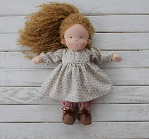 Liberty Dress For Waldorf Doll - Doll Clothing #23
