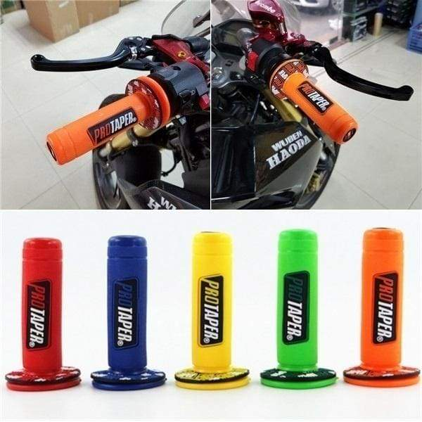 1 Pair Universal Rubber Motorcycle Hand Grip Autobike Handlebar Handle Bar End Cover 8 Color U6B7ZHT689/mB