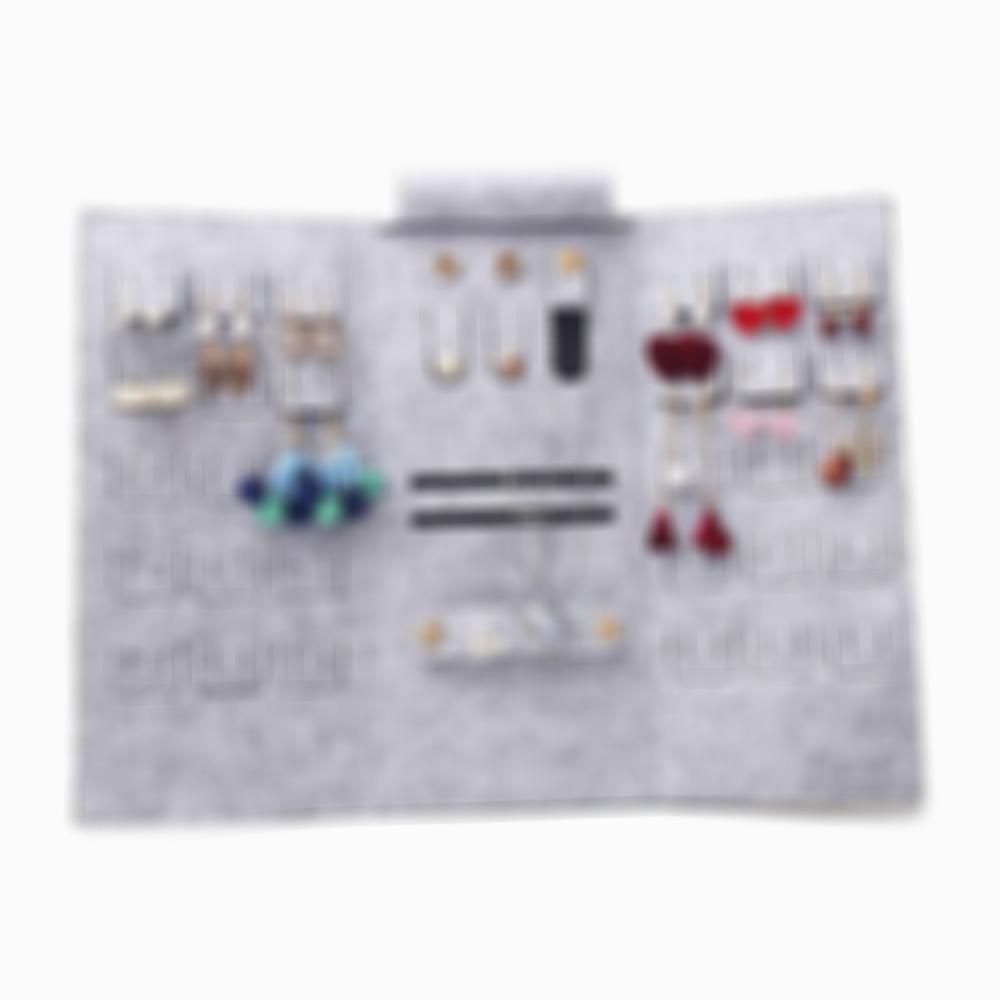 SKRTEN Portable Foldable Travel Roll Up Jewelry Storage Organize Bag for Necklaces Earrings Bracelets Rings