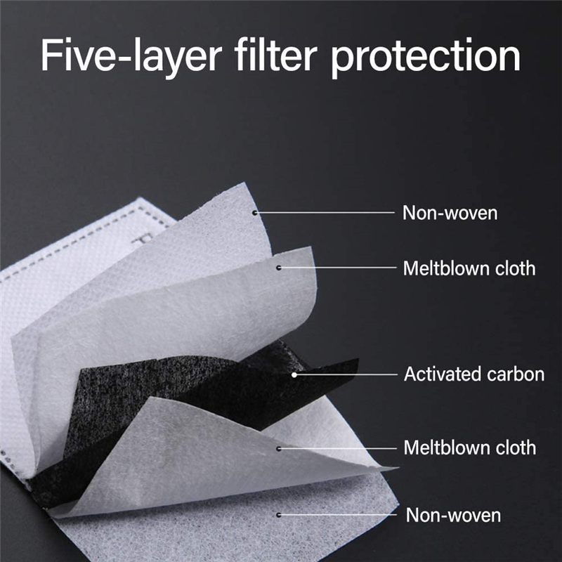 Professional Activated Carbon Filter 5-Layer Anti-Fog Replacement Anti-Fog mats