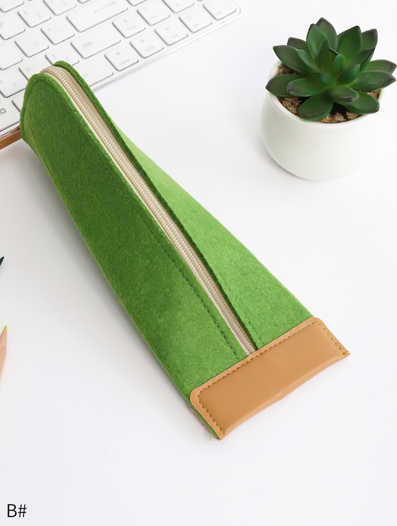 Felt Zipper Pencil Case 1pc