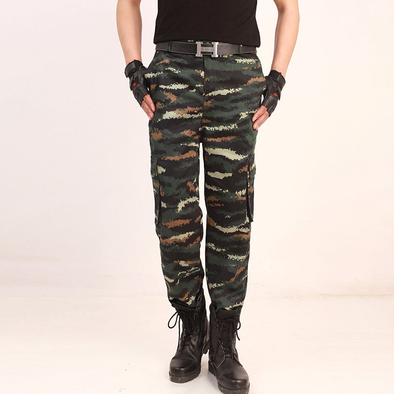 Cotton high-elasticity army pants